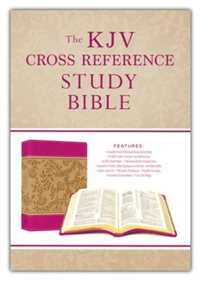 KJV Cross Reference Study Bible Compact, Imitation Leather, Pink Blossoms   -     By: Christopher Hudson