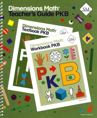 Dimensions Math Teacher's Guide Pre-K B   -