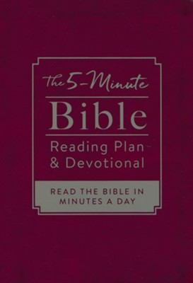 The 5-Minute Bible Reading Plan and Devotional: Read the Bible in Minutes a Day  -     By: Ed Strauss