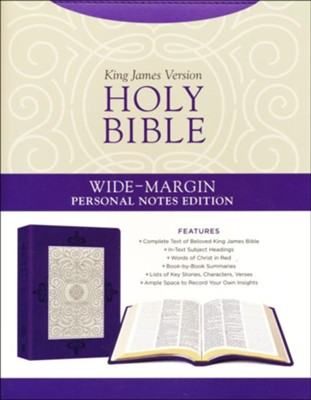 Holy Bible: Wide-Margin Personal Notes Edition [Lavender Plume]: Leatherlike   -