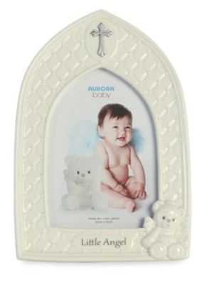 Little Angel Photo Frame, White  -