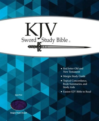 KJV Giant Print Sword Study Bible, Ultrasoft Designer Purple  -