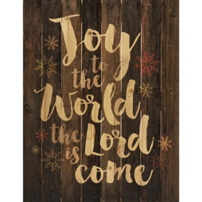 Joy to the World, Lath Wall Art  -