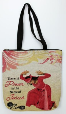 There Is Power In the Name Of Jesus Tote Bag  -     By: G Perkins