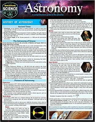 Astronomy: Quickstudy Laminated Reference Guide to Space, Our Solar System, Planets and the Stars (Second Edition, Enlarged/Expan)  -     By: John Roche Ph.D.