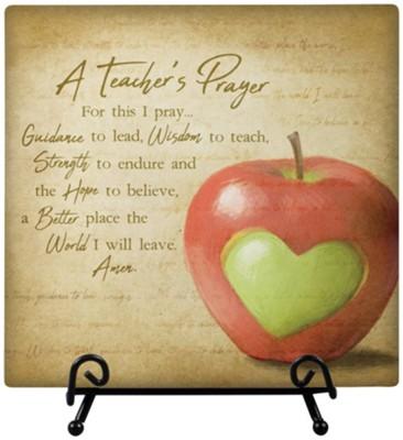 Teacher Prayer, Easel Plaque