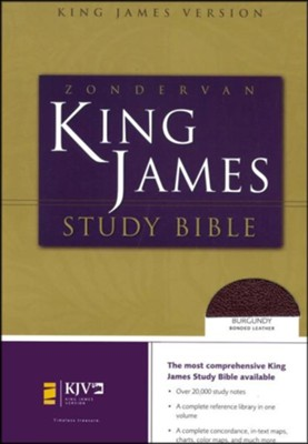 KJV Zondervan Study Bible, Bonded leather, Burgundy, Thumb-Indexed   -     By: Bible