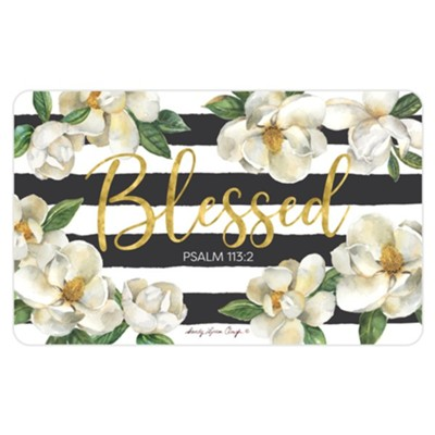 Blessed, Magnolia, Shower Mat  -     By: Sandy Clough