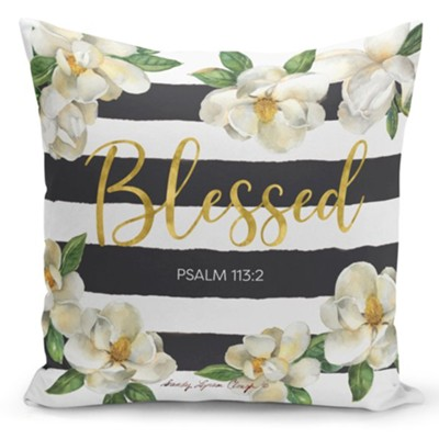 Blessed, Magnolia, Pillow Cover  -     By: Sandy Clough