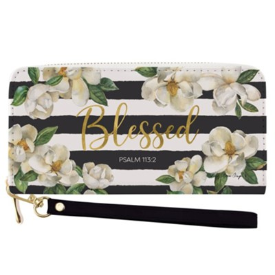 Blessed, Magnolia, Wallet  -     By: Sandy Clough