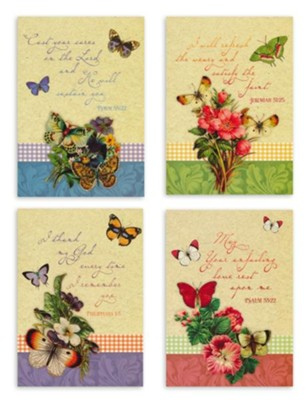 Praying For You, Butterflies Cards, Box of 12  -