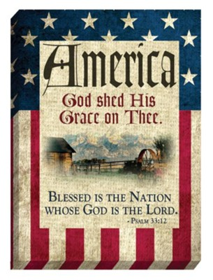 America, God Shed His Grace On Thee Magnet  -