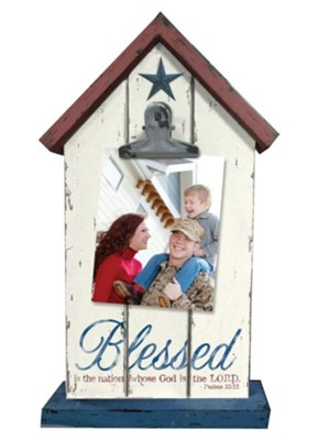 Blessed Is the Nation House with Picture Clip  -