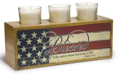 Blessed Is the Nation Votive Holder  -