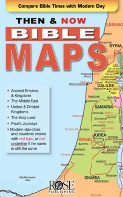 Then and Now Bible Maps, Pamphlet - eBook   -     By: Rose Publishing