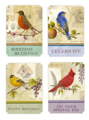 Happy Birthday, Songbirds Cards, Box of 12  -     By: Sandy Clough