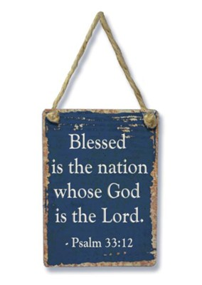 Blessed Is the Nation Mini Sign  -
