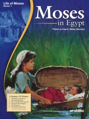 Moses in Egypt Homeschool Flash-a-Card Bible Story   -