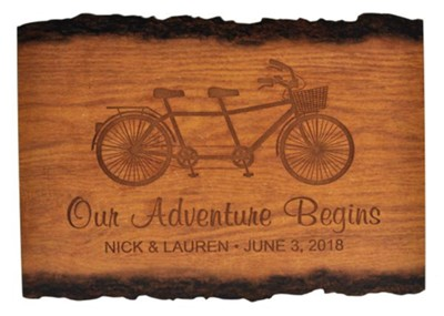 Personalized, Barky Sign, Our Adventure Begins, Large   -