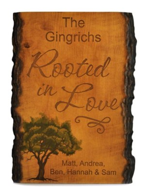 Personalized, Barky Sign, with Tree, Roots In Love   -