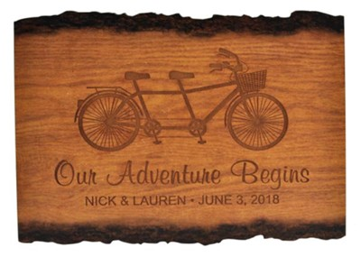 Personalized, Barky Sign, Our Adventure Begins, Medium   -