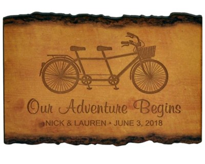 Personalized, Barky Sign, Our Adventure Begins, Small   -