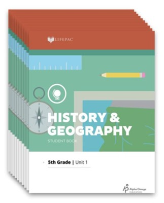 Lifepac History & Geography Workbook Set, Grade 5   -     By: Alpha Omega