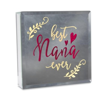 Best Nana Mirror Plaque  -