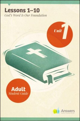 Answers Bible Curriculum Adults Unit 1 Student Guide (2nd Edition)  -