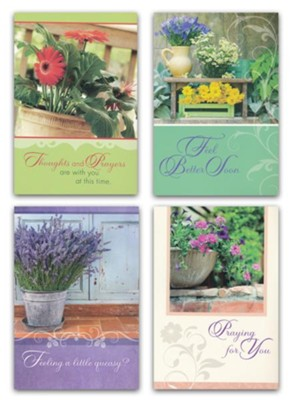 Botanical Charm, Get Well Cards, Box of 12  -