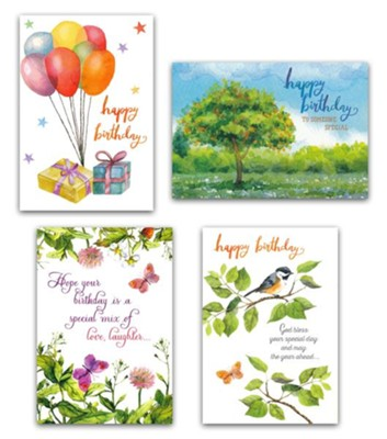 Birthday Cards, Bounty (KJV), Box of 12     -