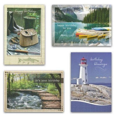Birthday Cards, His Gifts (KJV)  , Box of 12  -