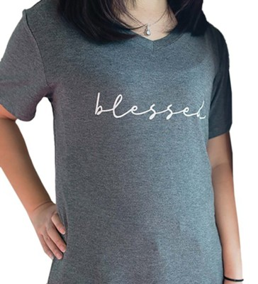 Blessed Shirt, Charcoal Gray, Small  -