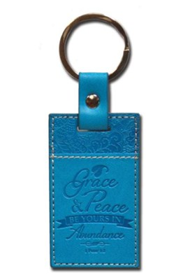 1 Peter 1:2 Keychain, Blue  -