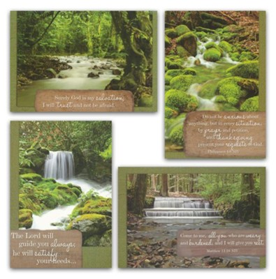 Waterscapes, Get Well Cards, Box of 12  -