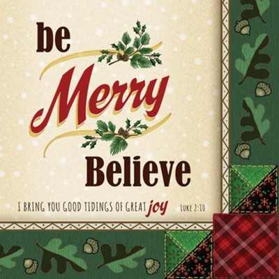 Christmas, Party Napkins, Be Merry, Believe  -