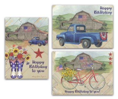 American Country, Birthday Cards, Box of 12  -     By: Sandy Clough