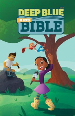 CEB Deep Blue Kids Bible Wilderness Trail Paperback  -