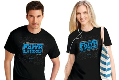 Faith Is Strong Shirt, Black, Small, Unisex   -