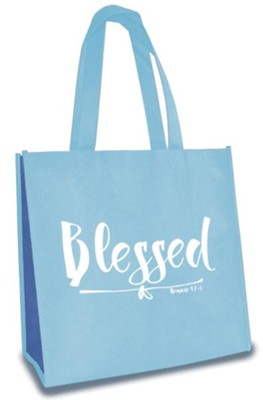 Blessed, Eco Tote, Baby Blue  -