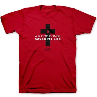 Blood Donor Shirt, Red, Large, Unisex   -