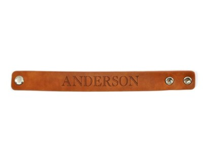 personalized leather bracelet with name tan christianbook com