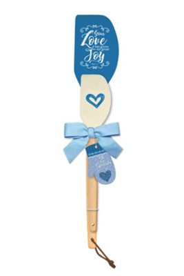 Your Love Has Given Me Great Joy Spatula Gift Set, Blue  -