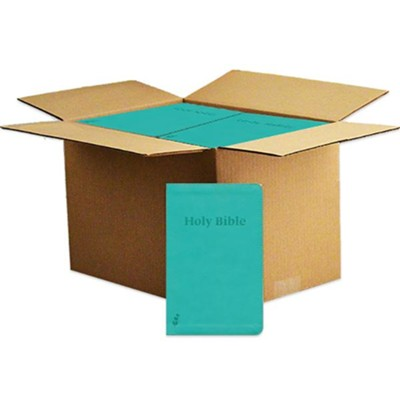 ERV Holy Bible--soft leather-look, teal, case of 24  -