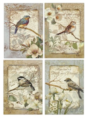 Birds and Music, Encouragement Cards, Box of 12  -
