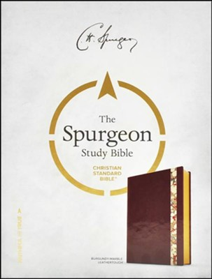CSB Spurgeon Study Bible, Burgundy Marbled LeatherTouch  -