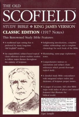 Old Scofield Study Bible Classic Edition, KJV, Bonded Leather burgundy  -
