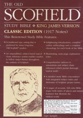 Old Scofield Study Bible Classic Edition, KJV, Genuine Leather  black Thumb-Indexed  -