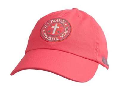 Prayer Is A Powerful Weapon Cap, Coral  -