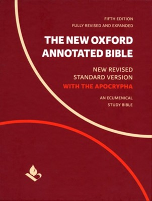 The New Oxford Annotated Bible with Apocrypha: New Revised Standard Version Black Genuine Leather  -     Edited By: Michael Coogan, Marc Brettler, Carol Newsom, Pheme Perkins